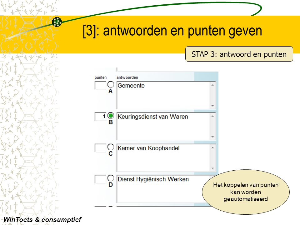 [3]: antwoorden en punten geven